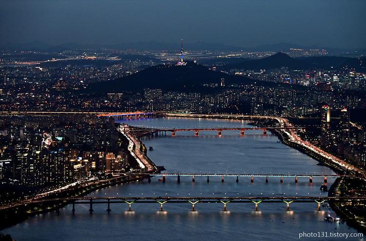 롯데월드타워 전망대 서울스카이, 야경