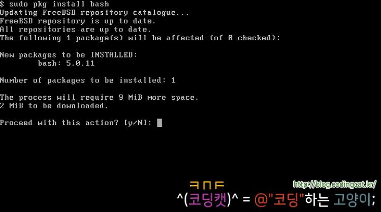 [단편 FreeBSD 사용법] bash 설치 및 사용하기