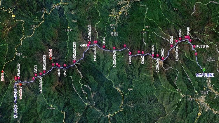 지리산 주능선 종주 32km 지도/GPX (중산리~성삼재)