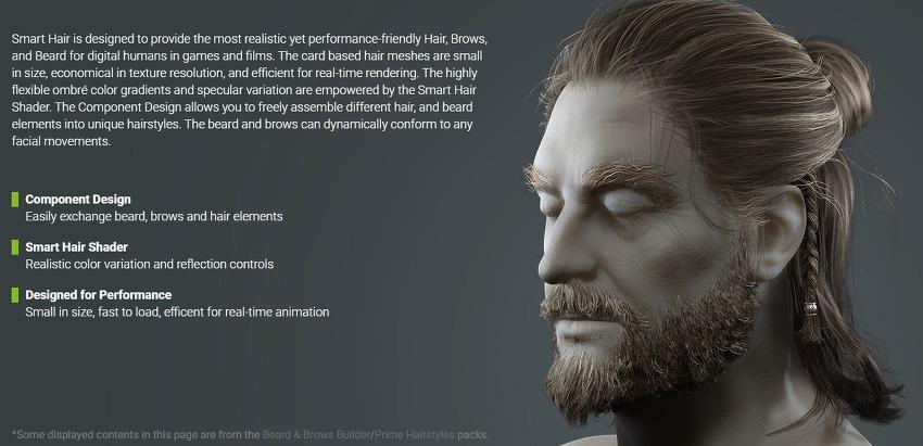 Character Creator 3.4  Smart Hair 업데이트