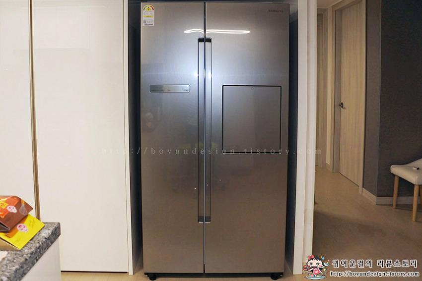 [롯데홈쇼핑 TV방송 상품] 삼성 지펠 유러피안 양문형 이지 홈바 냉장고 815L