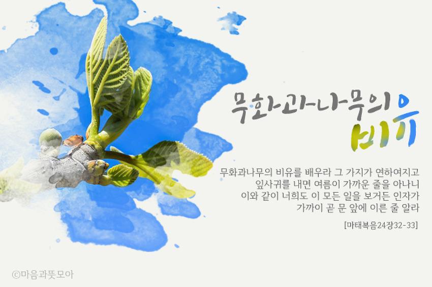 [하나님의교회 안상홍님] 무화과나무의 비유 예언을 통해 재림의 시기