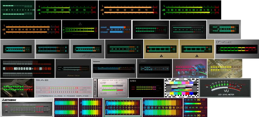AIMP 디지털 신호 레벨 표시기-시각화 플러그인