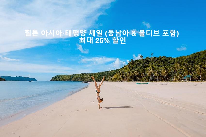 힐튼 아시아·태평양 세일 (동남아 & 몰디브 포함) 최대 25% 할인 (20년 1월 12일까지)