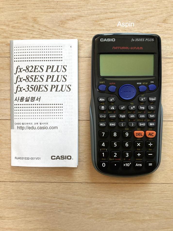카시오 공학용 계산기 (CASIO, fx-350ES PLU..