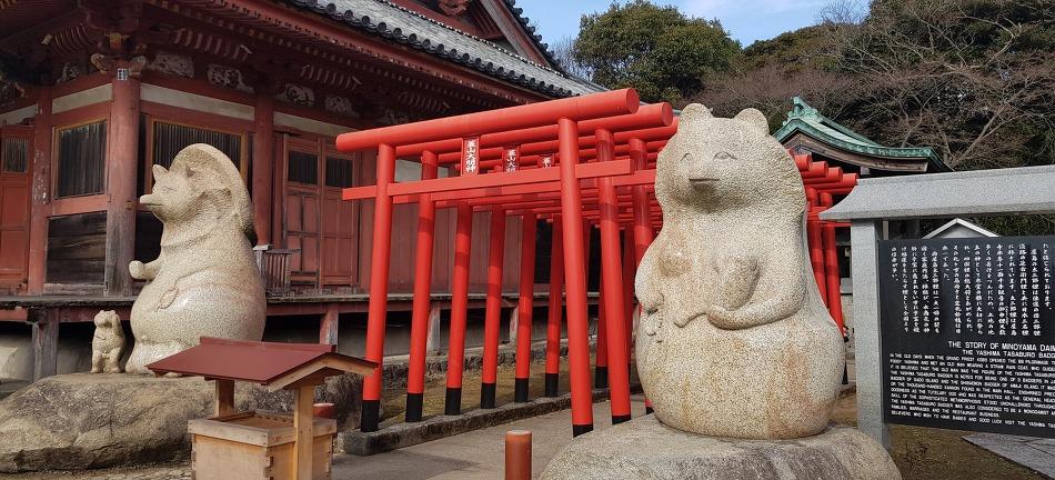 다카마쓰 - 너구리 신사 ( 蓑山大明神 )
