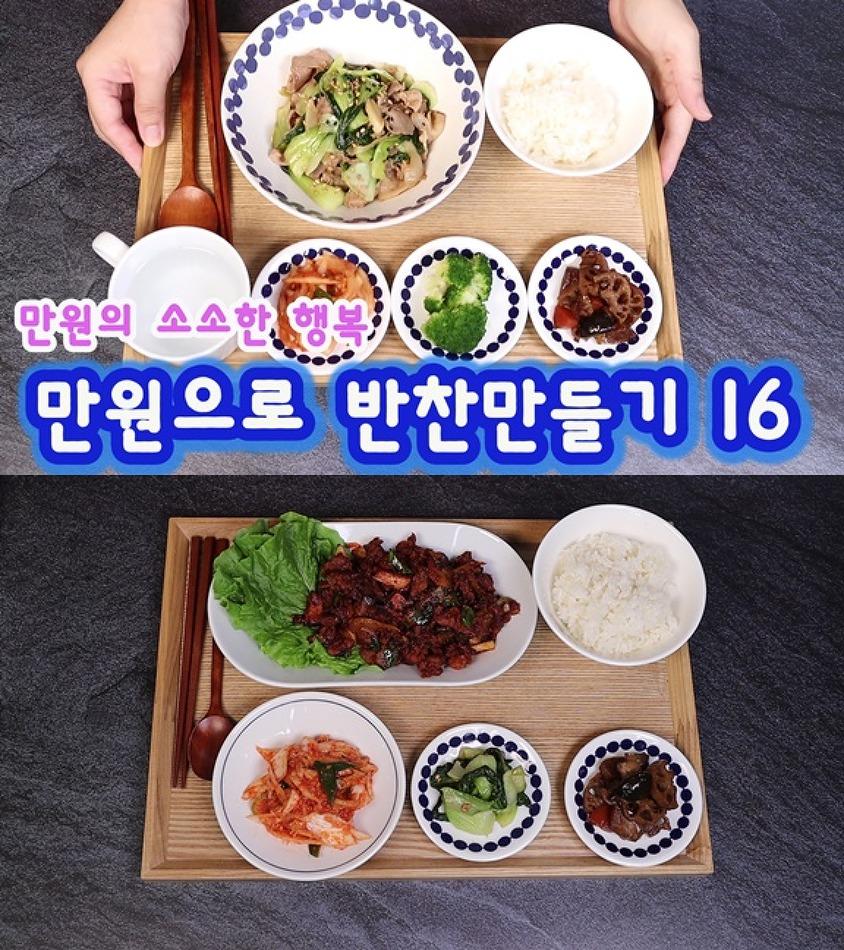 욜로리아 만원으로 장보기 16 반찬만들기 / 배..