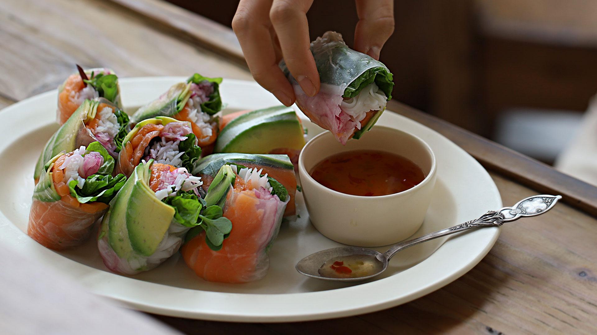누구라도 반할 맛, 연어월남쌈 : Salmon Spring Roll🌿 [아내의 식탁]