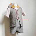 VEST lined linen cotton/sil..