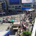 2014 '방콕 폐쇄' 에까마이편, 데모라..