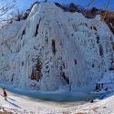 부엉바위 빙벽등반