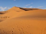 모로코 사하라사막을 향하..