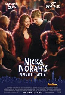 닉과 노라의 인피니트 플레이리스트 포스터