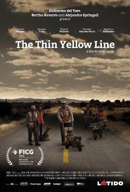 가늘고 노란 선