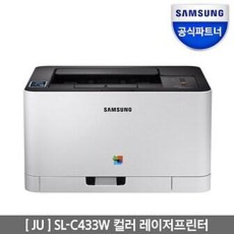 삼성전자 SL-C433W 컬러 레이저 프린터, 단일색상, SL-C433W 토너포함