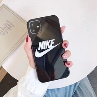 Others 아이폰 11 나이키 로고 블랙 and 화이트 케이스 7 8 x 시리즈 휴대폰 케이스