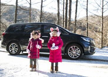 가족을 위한 차, 카니발로 다녀온 태백산 눈축제