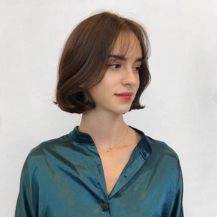 여성컷, 앞머리펌