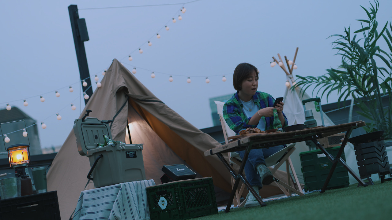 How Park retreats herself from a busy life - camping