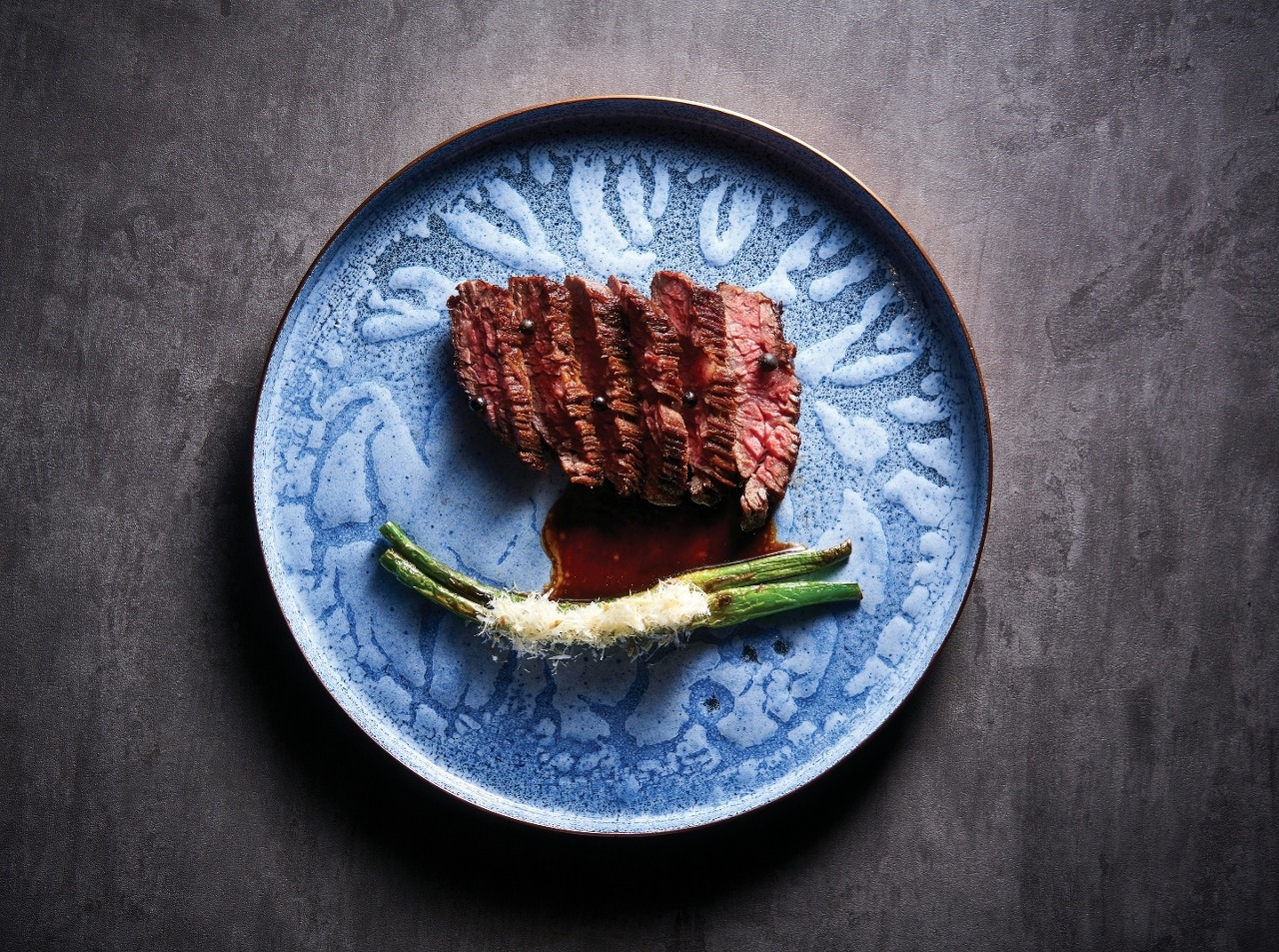 Smoked Skirt Steak with grilled garlic stems (Pic: RIPE)