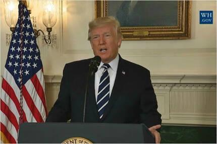 미국 트럼프 대통령 (사진=백악관 영상 캡처)