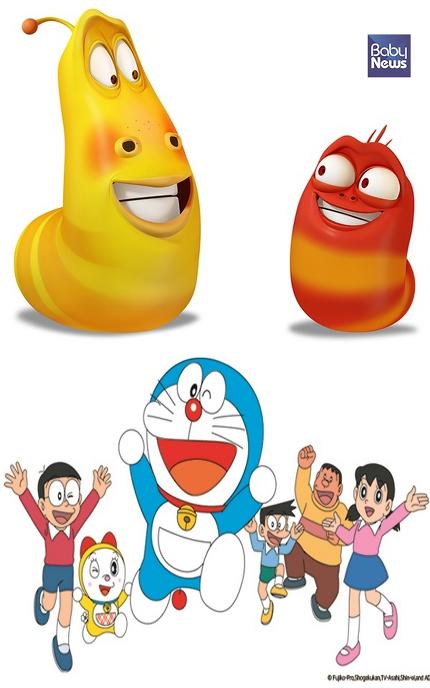 상단 TV만화 라바, 하단 TV만화 신 도라에몽. ⓒ(주)투바앤, Fujiko-Pro,Shogakukan,TV-Asahi,Shin-ei,and ADK