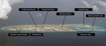 중국의 남중국해 '군사 요새 섬' [필리핀 데일리 인콰이어러 캡처]