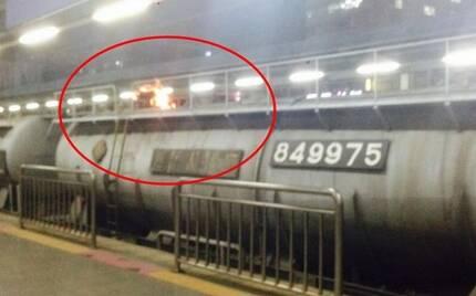 2014년 발생한 노량진역 열차 위 감전사고. [사진 코레일]