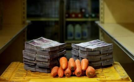 당근 10개를 사려 해도 300만 볼리바르를 줘야 한다.