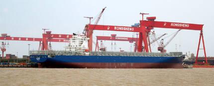 올해 들어 중국 조선업체의 선박 수주량이 가파르게 줄면서 '위기설'이 나오고 있다. 사진은 중국 장쑤성에 있는 현지 대형 조선소의 모습