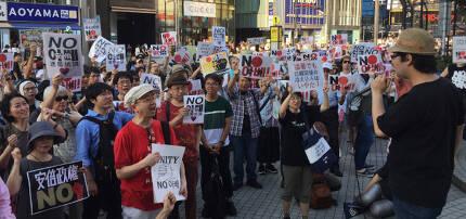 8월 4일 일본 도쿄 신주쿠역 앞에서 아베 정권의 대한(對韓) 경제보복에 반대하는 시위가 일본에서 처음 열렸다. 하지만 8월 22일 지소미아 종료 이후 경제보복을 지지하는 이들이 더 늘었다. [김범석 동아일보 도쿄 특파원]