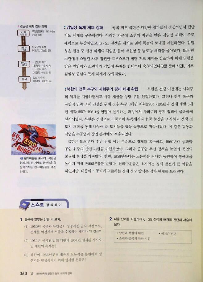 ▲ 북한 체제 소개 / 비상교육
