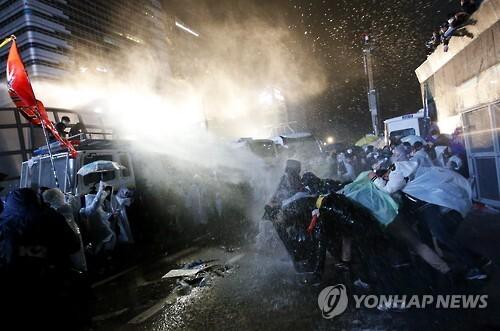 (EPA=연합뉴스) 11월14일 1차 민중총궐기 집회 모습