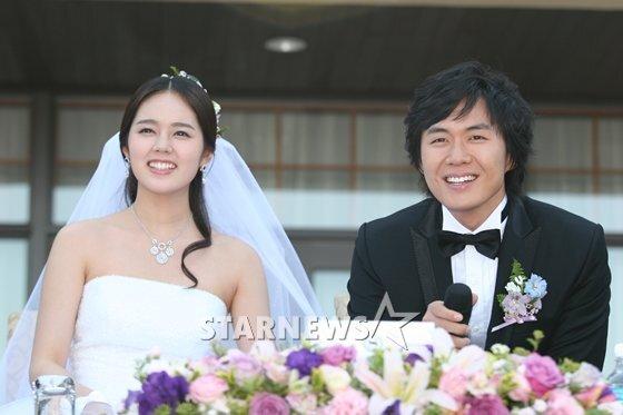 2005년 결혼식 당시의 한가인 연정훈 부부 / 사진=스타뉴스