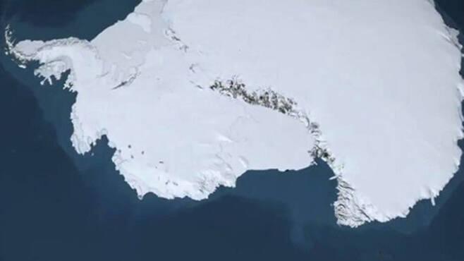 남극의 빙하