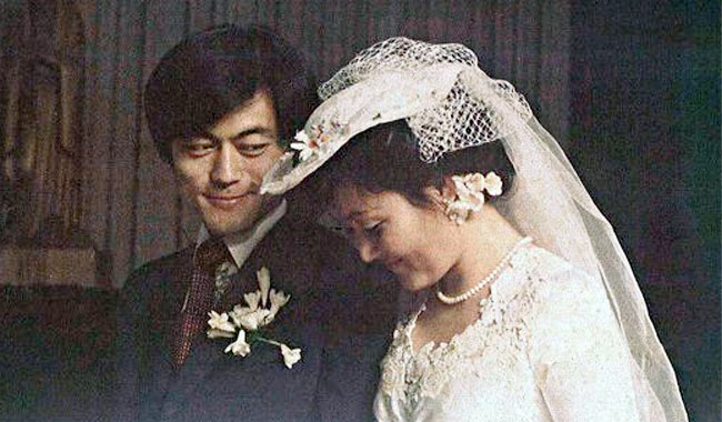 문재인 대통령과 김정숙 여사의 지난 1981년 결혼식.