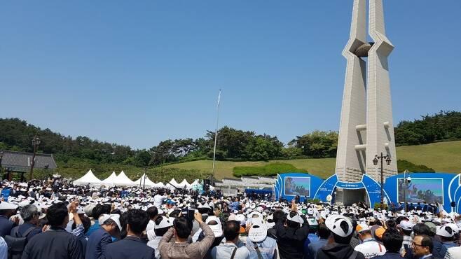 5·18민주화운동 37돌 기념식이 18일 광주 국립 5·18민주묘지에서 문재인 대통령이 참석한 가운데 열렸다.