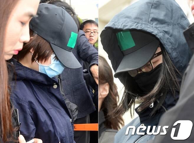 '인천 초등생 살인사건'의 두 피고인. 왼쪽부터 A양과 B양. 뉴스1 DB