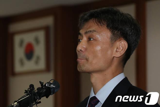 박성진 중소기업 벤처부 장관 후보자. 2017.8.31/뉴스1 © News1 민경석 기자