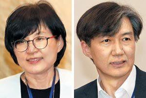 조현옥 인사수석(왼쪽), 조국 민정수석.