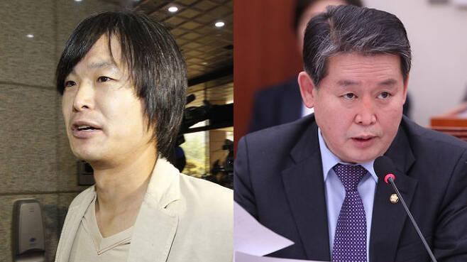 주진우 기자(왼쪽), 김경협 의원(오른쪽)