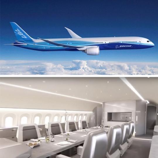 세계에서 가장 비싼 멕시코 엔리케 페나 니에토 대통령의 전용기인 보잉 787-8 드림라이너와 내부 모습. 가격은 6억달러(6678억원)로 추정된다. [중앙포토]