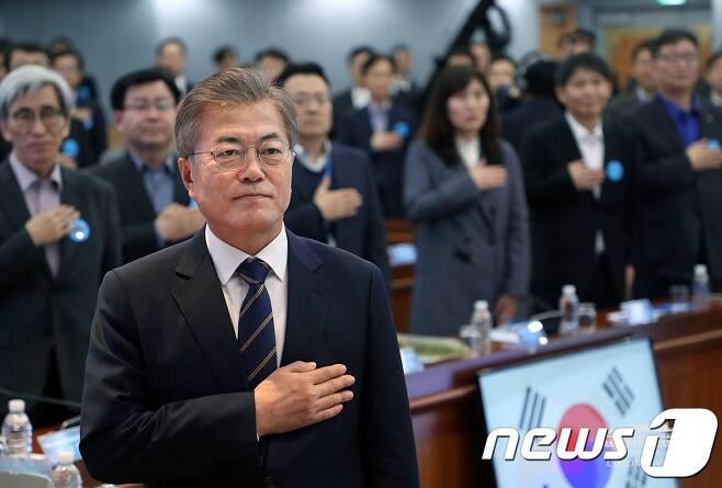 (청와대 페이스북) 2018.3.19/뉴스1 © News1