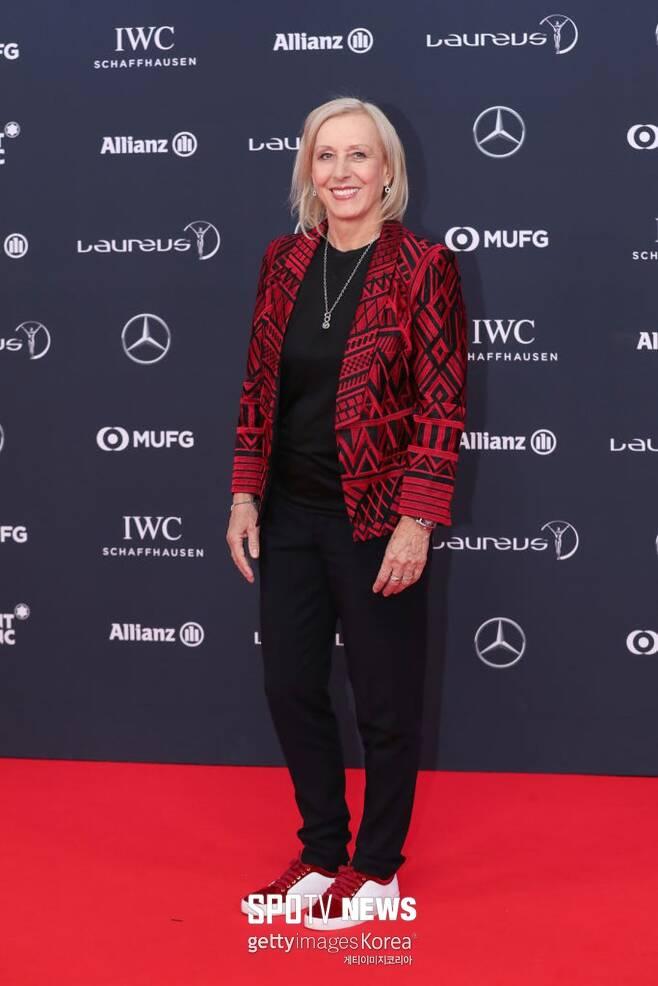 ▲ 2018년 라우레우스 스포츠상 시상식에 참석한 마르티나 나브라틸로바 ⓒ GettyImages