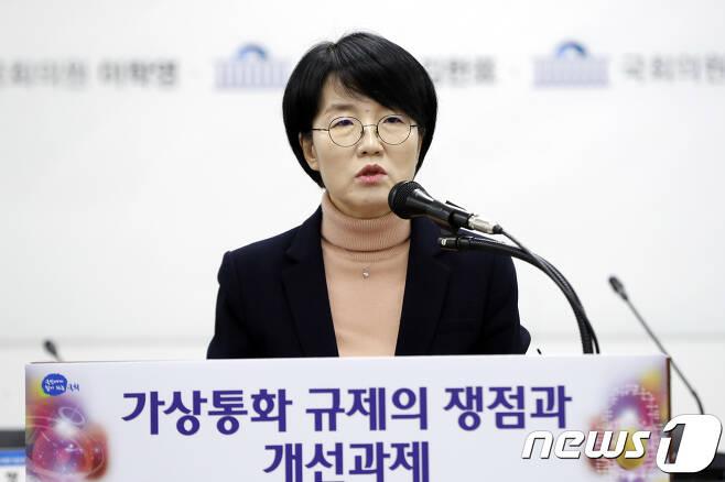 박선숙 국민의당(현 바른미래당)의원이 지난 2월8일 서울 여의도 국회 입법조사처 대회의실에서 열린
