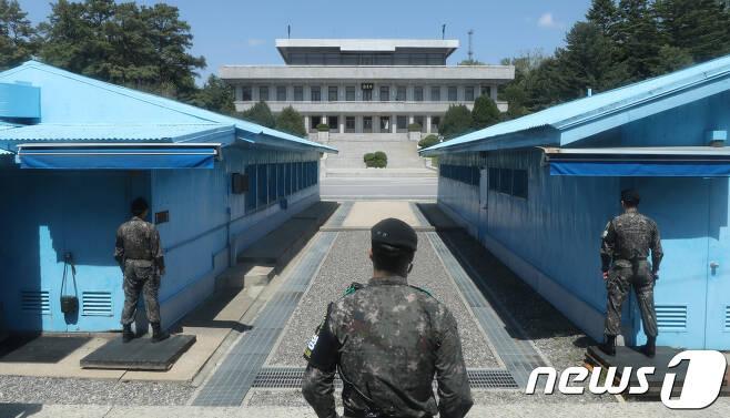 판문점 공동경비구역(JSA). 2018.5.9/뉴스1 © News1 허경 기자