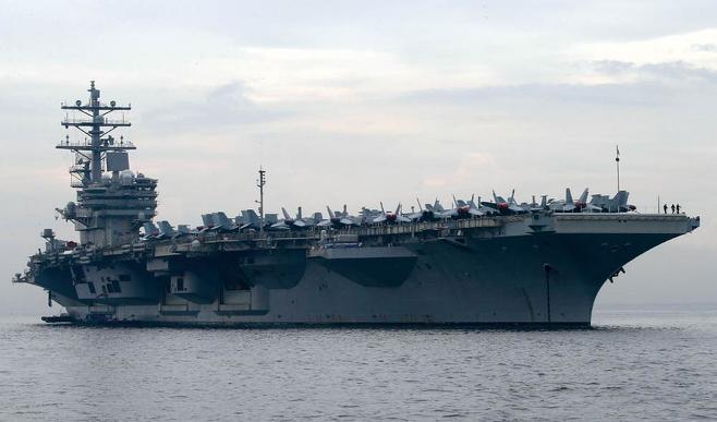 미국 핵추진 항공모함 로널드 레이건호 ⓒPIC연합·AP연합