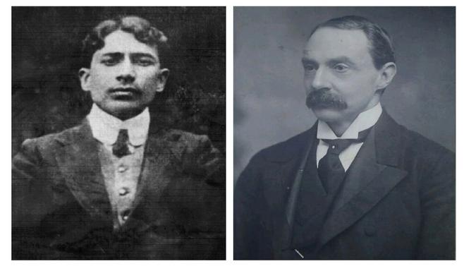인도의 독립운동가 딩그라(왼쪽)와 그에 의해 피살된 커즌 와일리(1848~1909) ⓒ이원혁제공