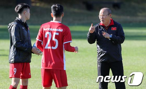 박항서 감독과 함께 베트남 축구가 새로운 역사를 써내려가고 있다. © News1