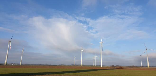 독일 북부 레펠트(Rehfelde) 지역에 풍력발전소가 설치돼 있다. (사진=김상윤 기자)